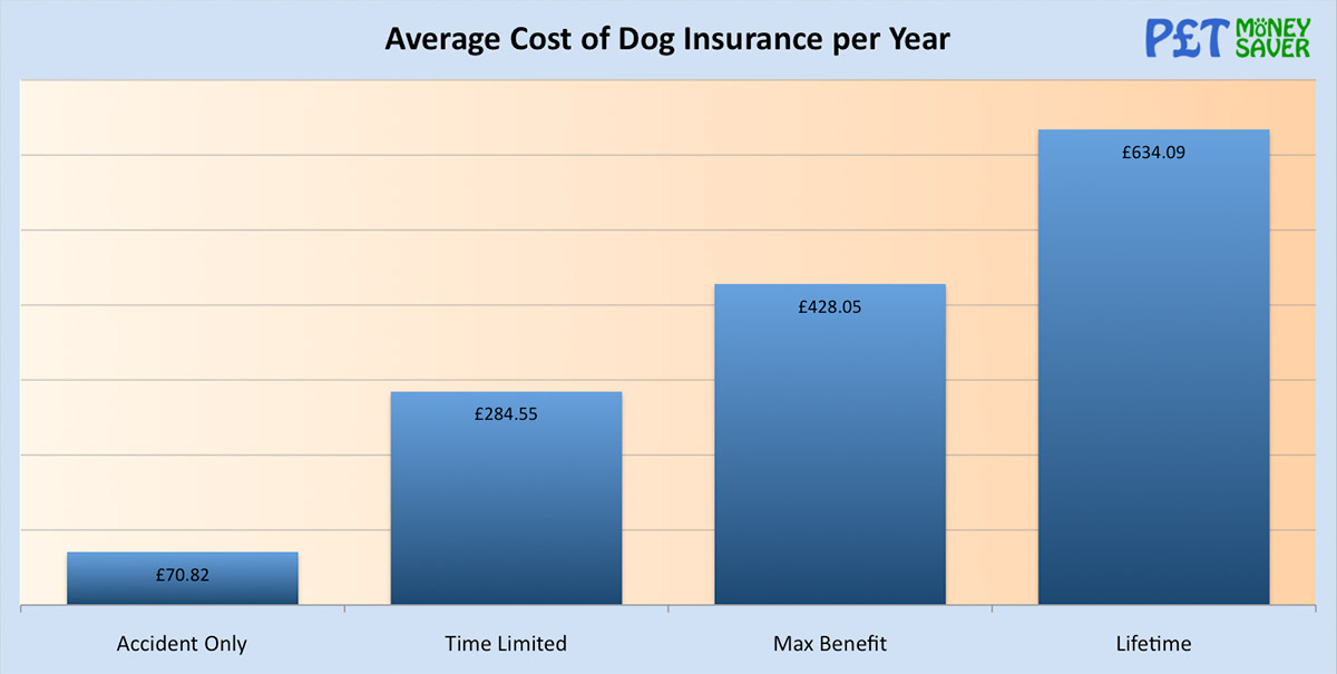 Average Cost of Dog Insurance per Year