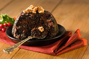 Christmas Pudding with Walnuts