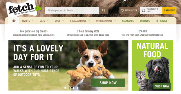Fetch Online Pet Store