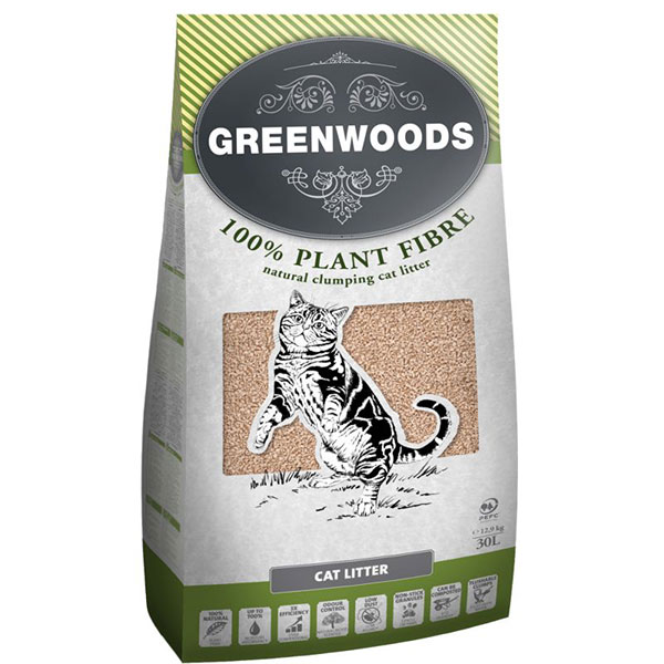 Greenwoods Plant Fibre Natural Clumping Litter