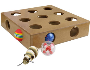 Interactive Peek-&-Play Cat Toy Box