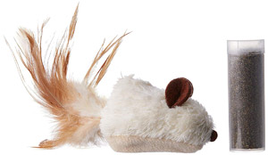 KONG Refillable Catnip Feather Mouse Cat Toy