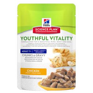 Cheap Hill's Science Plan Feline Adult 7+ Youthful Vitality Chicken 12x85g