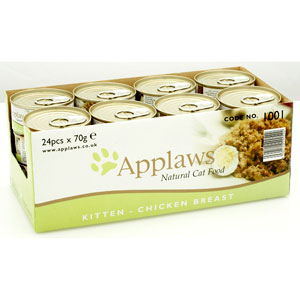 Cheap Applaws Kitten Chicken Tin 24 x 70g