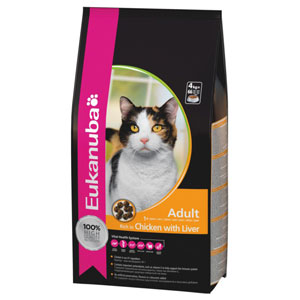 Cheap Eukanuba Adult Cat Chicken & Liver 2kg