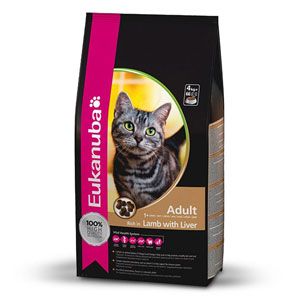 Cheap Eukanuba Adult Cat Lamb & Liver 2kg