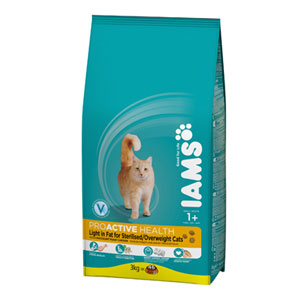 Cheap Iams ProActive Health Adult Light Sterilised/Overweight Cat 2.55kg