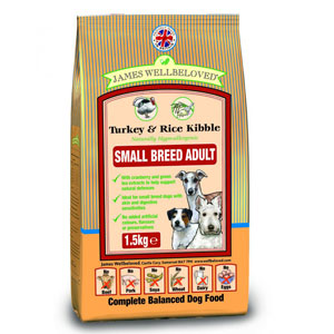 Cheap James Wellbeloved Adult Small Breed Dog Turkey & Rice 7.5kg