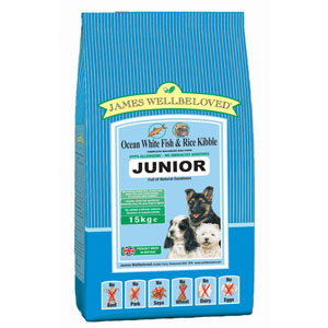 Cheap James Wellbeloved Junior Dog Fish & Rice 15kg