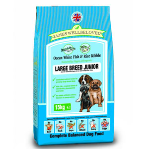 Cheap James Wellbeloved Junior Large Breed Dog Fish & Rice 4kg