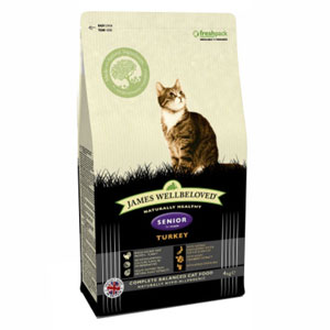Cheap James Wellbeloved Senior Cat Turkey 300g