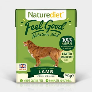 Cheap Naturediet Feel Good Lamb with Rice & Carrots 18 x 390g