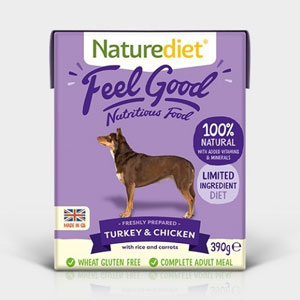 Cheap Naturediet Feel Good Turkey & Chicken with Rice & Carrots 18 x 390g