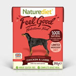 Naturediet Feel Good Chicken & Lamb with Rice & Carrots 18 x 390g