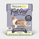 Naturediet Feel Good Senior Lite with Turkey & Chicken 18 x 390g