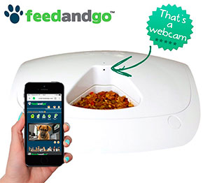 FeedandGo Smart Pet Feeder With Webcam