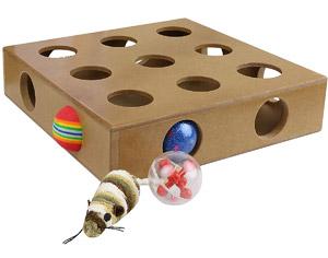 Interactive Peek-&-Play Cat Toy Box