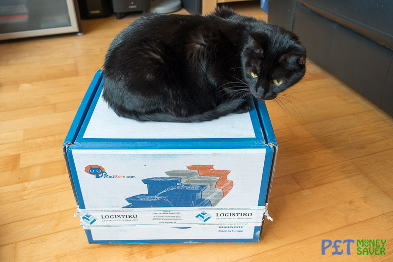 Miaustore Cat Water Fountain Review Box