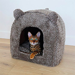 Rosewood Luxury Cat Cave Bed