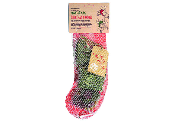 Rosewood Naturals Christmas Treat Stocking for Small Animals