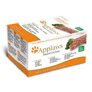 Cheap Applaws Cat Pate Multi Pack Orange 7 x 100g