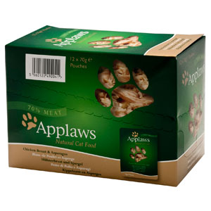 Cheap Applaws Chicken with Asparagus Pouch 12 x 70g