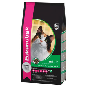 Cheap Eukanuba Adult Cat Hairball For Indoor Cats 400g
