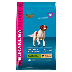 Cheap Eukanuba All Breeds Mature & Senior Dog Lamb & Rice 12kg