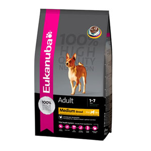 Cheap Eukanuba Medium Breed Adult Dog Chicken 15kg