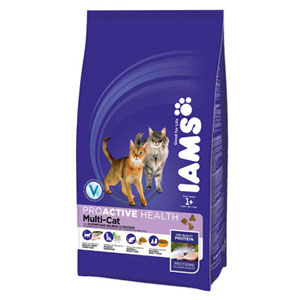 Cheap Iams ProActive Health Adult Multi-Cat Chicken & Salmon 3kg