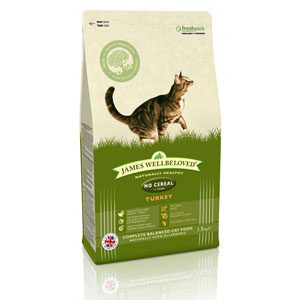 Cheap James Wellbeloved Adult Cat No Cereal Turkey 300g