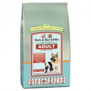 Cheap James Wellbeloved Adult Dog Duck & Rice 15kg