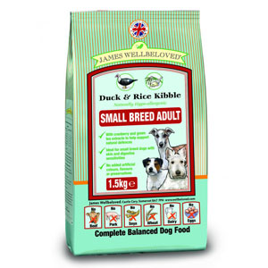 Cheap James Wellbeloved Adult Small Breed Dog Duck & Rice 1.5kg