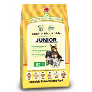 Cheap James Wellbeloved Junior Dog Lamb & Rice 2kg