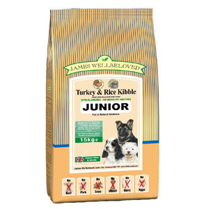 Cheap James Wellbeloved Junior Dog Turkey & Rice 7.5kg