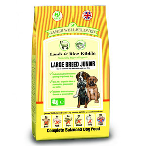 Cheap James Wellbeloved Junior Large Breed Dog Lamb & Rice 4kg