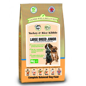 Cheap James Wellbeloved Junior Large Breed Dog Turkey & Rice 4kg