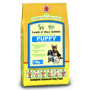 Cheap James Wellbeloved Puppy Lamb & Rice 7.5kg