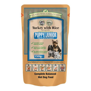 Cheap James Wellbeloved Puppy Pouch Turkey & Rice 10 x 150g