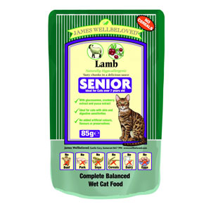 Cheap James Wellbeloved Senior Cat Pouch Lamb 12 x 85g