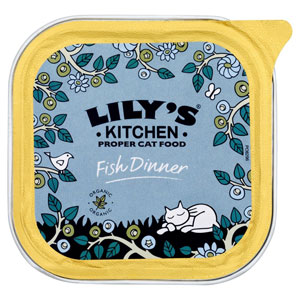 Cheap Lily's Kitchen Organic Fish Dinner for Cats 16 x 100g