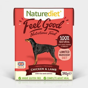 Cheap Naturediet Feel Good Chicken & Lamb with Rice & Carrots 18 x 390g
