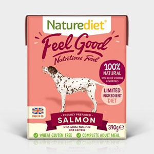 Cheap Naturediet Feel Good Salmon with Rice & Carrots 18 x 390g