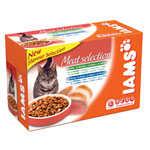 Iams Adult Meat Selection in Jelly & Gravy 12 x 100g